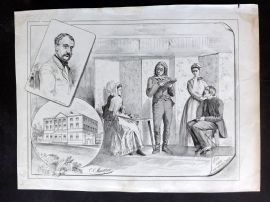 E. C. Mountfort - Dart 1880's Political Cartoon. A Scene from The Serious Family